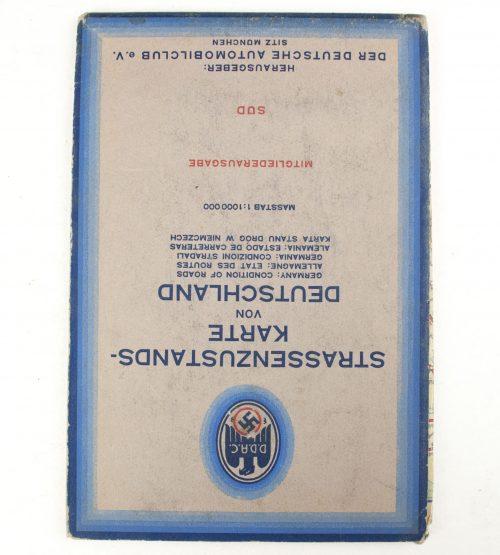 Der Deutsche Automobilclub (DDAC) - Strassenzustandskarte von Deutschland (1940?)