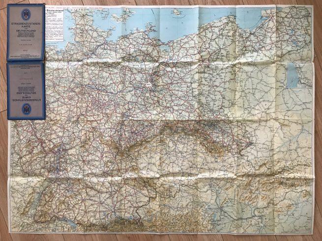 Der deutsche Automobilclub (DDAC) - Europakarte 1940