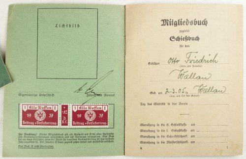 Deutscher Schützenverband Mitgliedsbuch zugleich Schiessbuch