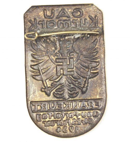 Gau Kurmark Frankfurt Gau-Partei-Tag 24.-25. Februar 1934 abzeichen