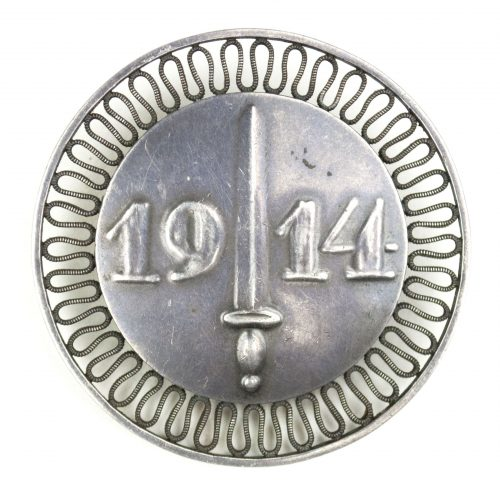 "German Patriotic Brooch ""1914"" - Silver Marked"