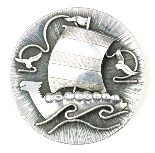 German Patriotic Vikingship brooch (835 silver)