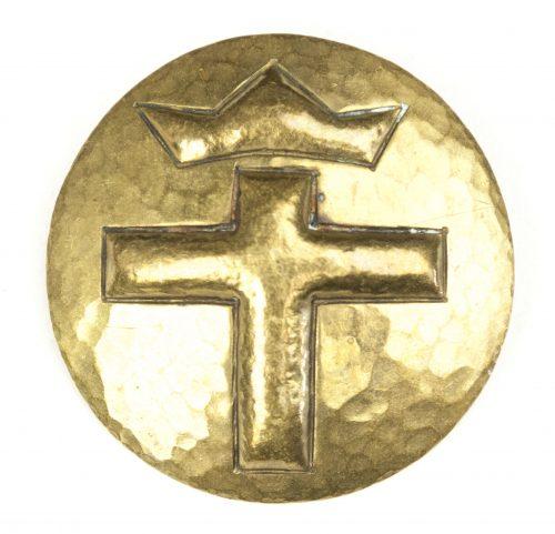 "German WWI/WWII ""Krankenschwester"" brooch with crown and cross"