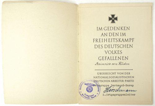Gibt Euren Toten Heimrecht! Worte einer deutschen Mutter (named with special dediction!)