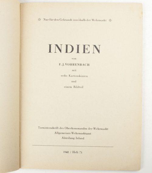 Indien - Tornisterschrift des Oberkommandos der Wehrmacht