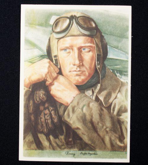 Postcard: W. Willrich - Aufklärungsflieger (1940)