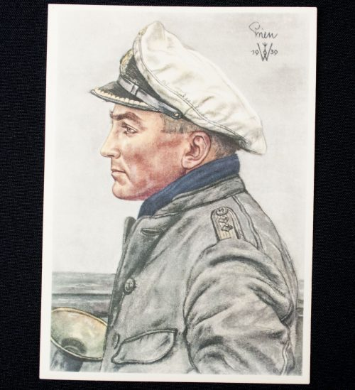 Postcard: W. Willrich - Kapitänleutnant Prien (1940)