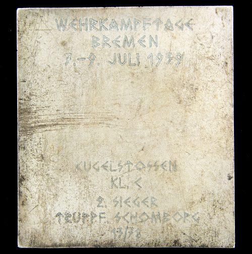 SA Gruppe Nordsee Für Leistung (plaque)