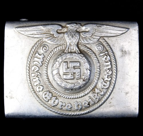 SS buckle RZM 822/38 ᛋᛋ (Maker Richard Sieper)
