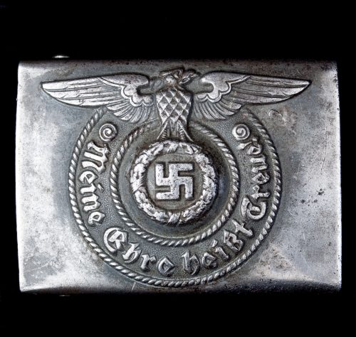 SS buckle (dark grey) RZM 15543 ᛋᛋ (Maker Assmann & Sohne from Lüdenscheid) 2