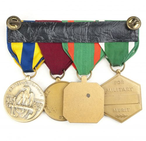 USa medalbar with Military Merit Medal, Navy and marine Corps Achievement medal, Navy marine Corps medal and Navy Expeditions medal