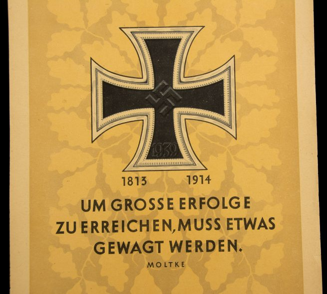 WWII German NSDAP Wochenspruch (propaganda miniposter) – Iron Cross