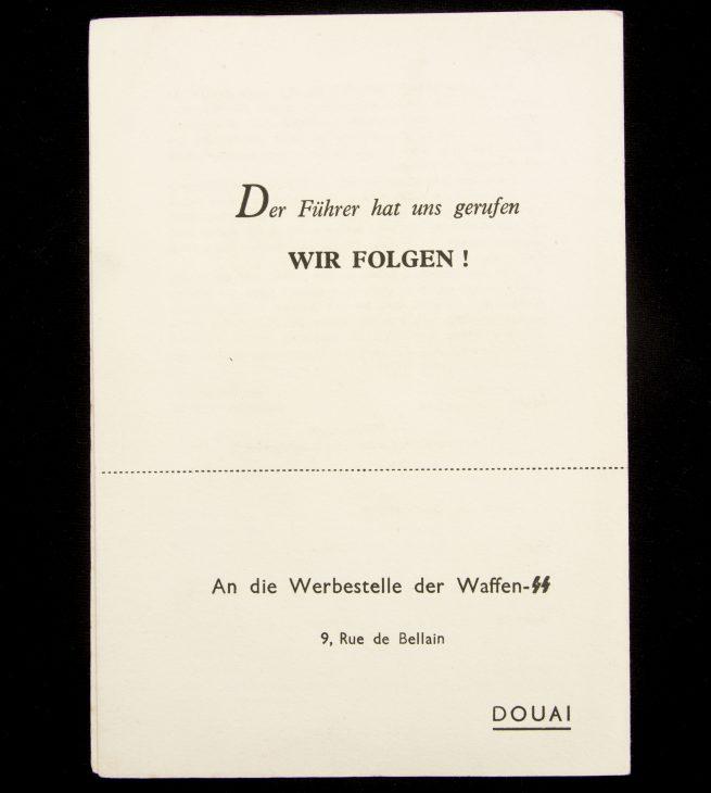 "Waffen SS recruitmentfolder for French volunteers - ""Dich Ruft die SS"""