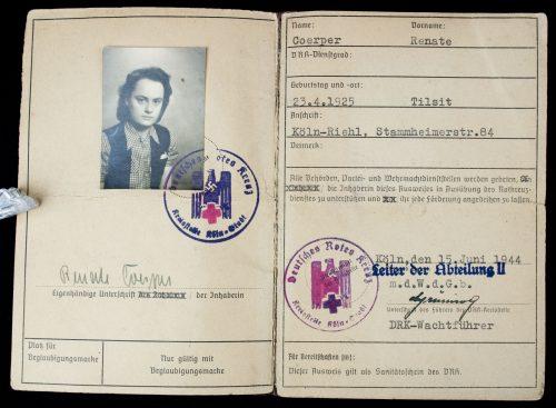DRK (Deutsches Rotes Kreuz ) Präsidium Personal-Ausweis für Med.-Studierende