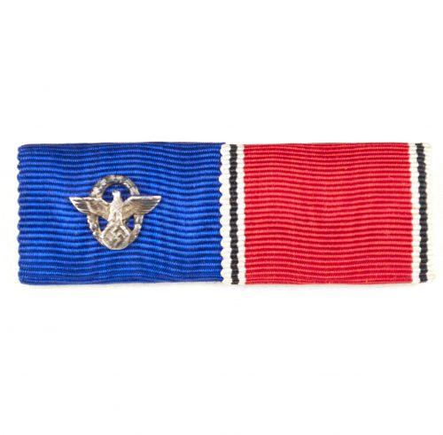 Double medalribbon: Polizei Dienstauszeichnung + 13 März Anschlussmedaille