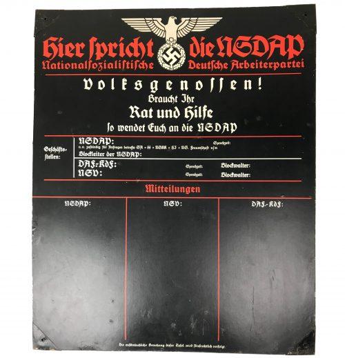 Hier Spricht die NSDAP shield - National Sozialistische Arbeiterpartei