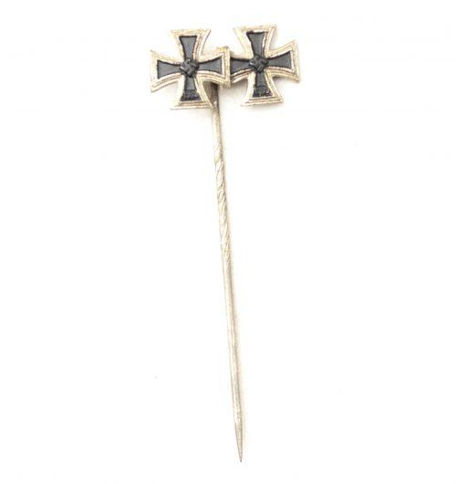Iron Cross first and second class / Eisernes Kreuz EK1 + Ek2 - stickpin