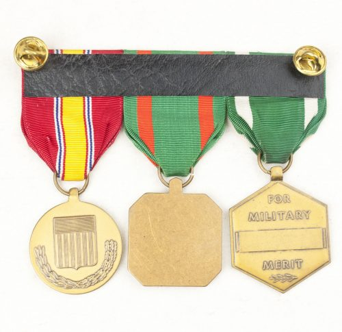 USA medalbar with Military Merit medal, Navy and Marine Corps achievement medal, National defense medal