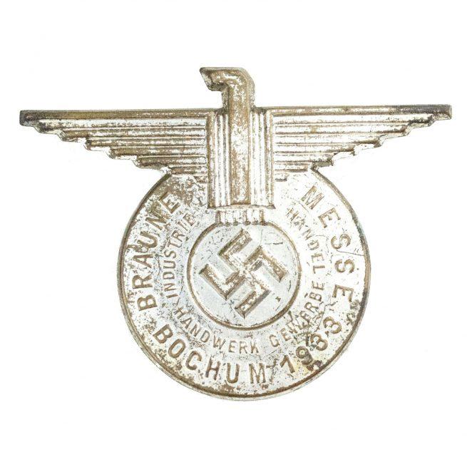 Braune Messe Bochem - Industrie, Handwerk, Gewerbe, Handel 1933 badge