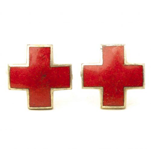 DRK German red cross collar tab insignia
