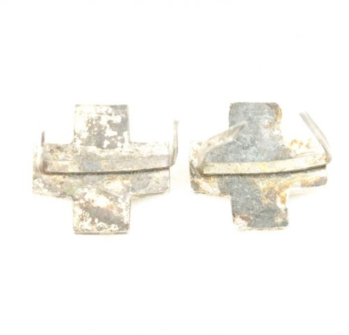 This is a set of two spare DRK German red cross collar tab insignia.