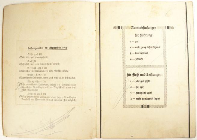 Daimler Benz Aktiengesellschaft 1940 / Carl Benz Gewerbeschule Gaggenau Zeugnisbuch