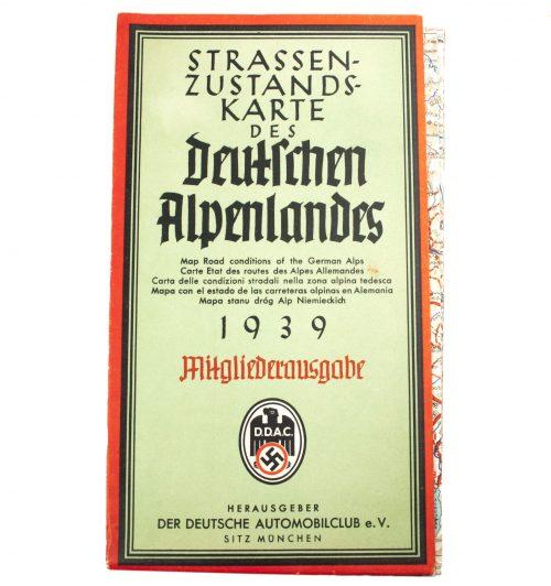 Der-Deutsche-Automobilclub-DDAC-Strassenzustandskarte-des-Deutschen-Alpenlandes-1939