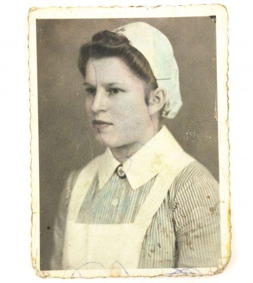 Deutsches Rotes Kreuz (DRK) Schwesterphoto + Heimkehrer paper