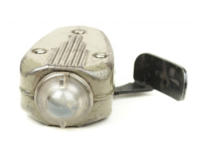 "Dutch wartime flashlight ""knijpkat"" by Philips"