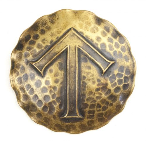 German WWII female cultural rune brooch with Teiwaz-rune