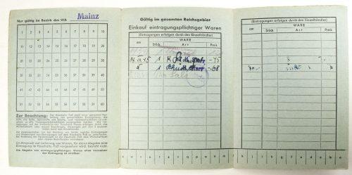 Haushalts-Pass für Gewerbliche Erzeugnisse (Ausgabejahr 1943)
