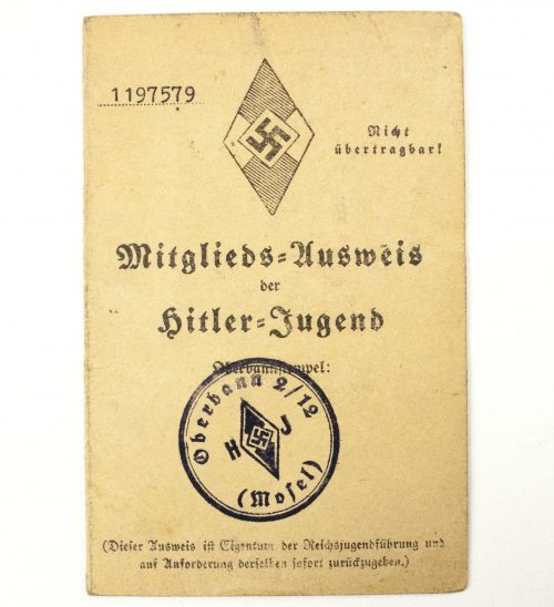 Hitlerjugend (HJ) - Mitgliedsausweis group (4 passes!)