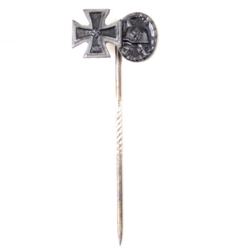 Iron Cross second class + Black Woundbadge stickpin