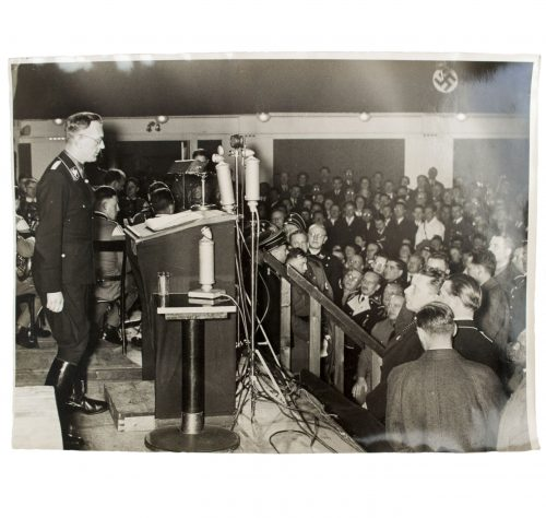 Large pressphoto of Arthur Seyss-Inquart in SS-Uniform (1938)