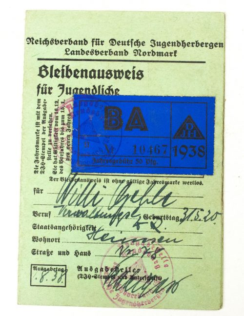 NSDAP/SA/Hitlerjugend group of passes all from one man