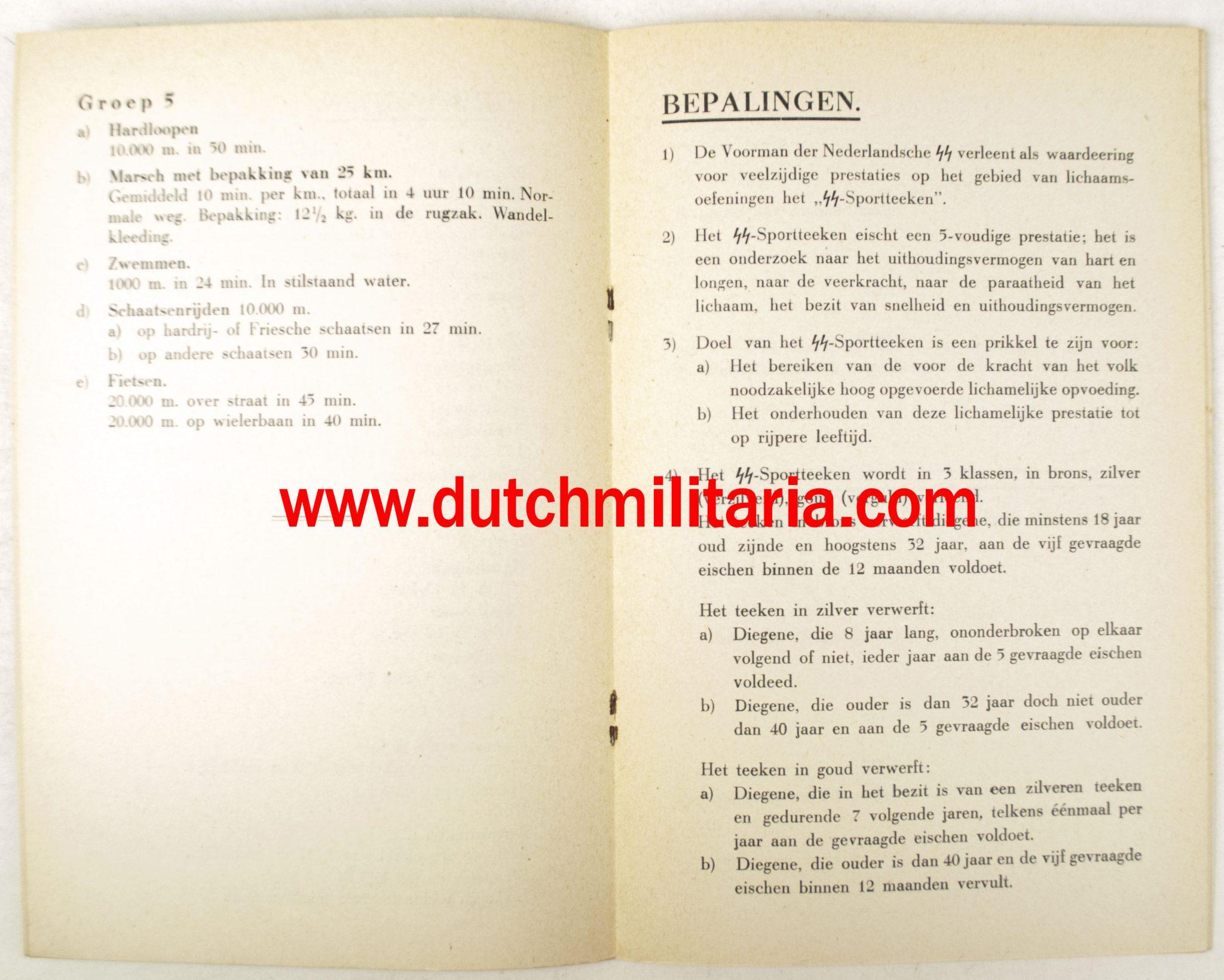 Identification badge xx Nederlandse-SS-Germaansche-SS-Sportsmedal-booklet-EXTREMELY-RARE-6