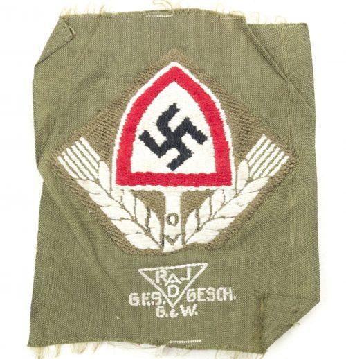 Reichsarbeitsdienst (RAD) bevo cap insignia