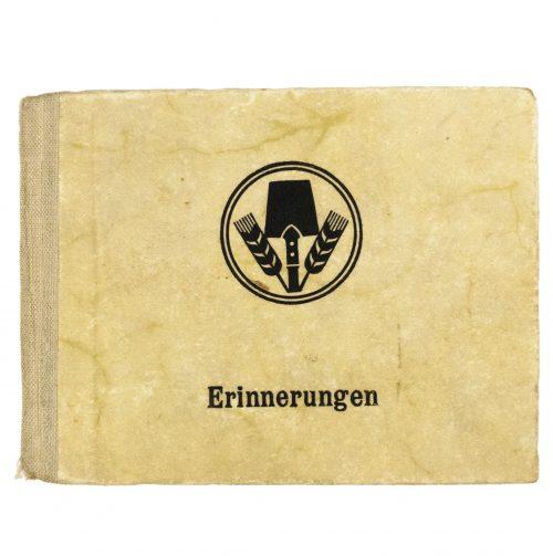"""Reichsarbeitsdienst (RAD) miniature privat """"Erinnerungen"""" photoalbum"""