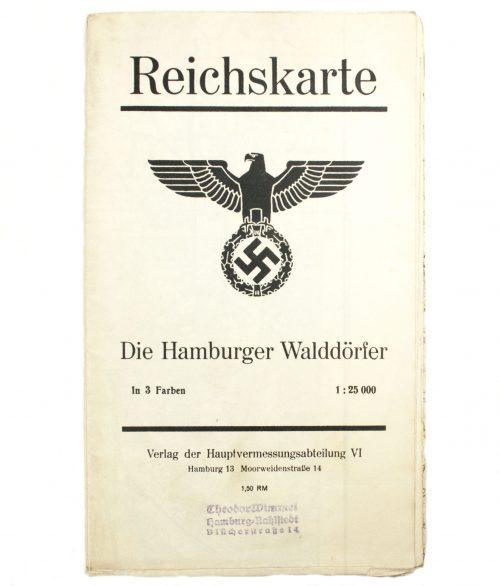 Reichskarte-map-Die-Hamburger-Walddörfer