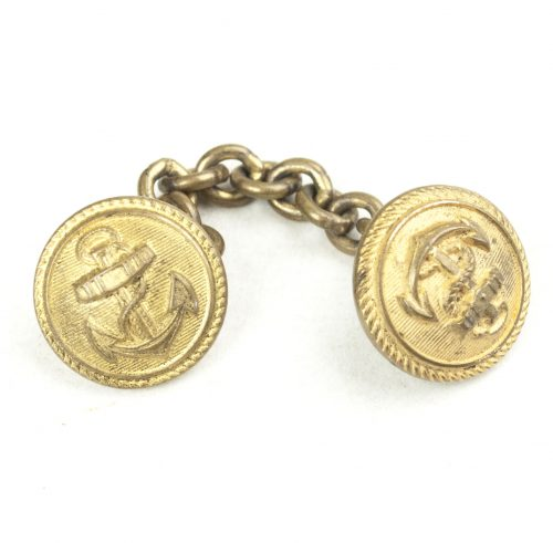 Reichsmarine extension buttons with anchor with chain