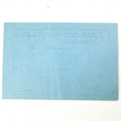 Saar pass for the Volksabstimmung on 13.1.1935 Saarbahnen
