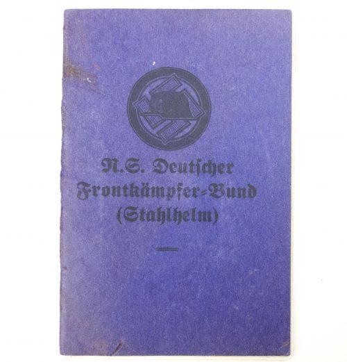 Stahlhelmbund / N. S. Deutscher Frontkämpferbund (Stahlhelm) Mitgliedsbuch