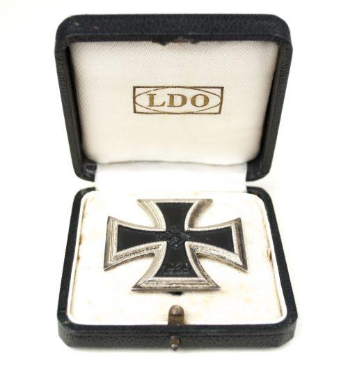 WWII Eisernes Kreuz / Iron Cross (Ek1) + LDO etui (maker L/16 Steinhauer & Lück)
