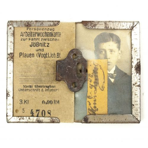 WWII German Factory pass to a boy