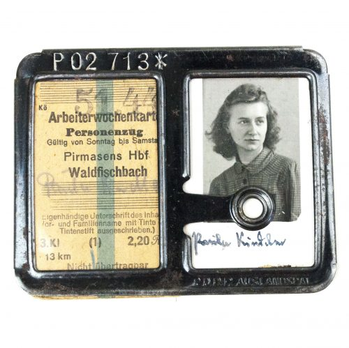 WWII German Factory pass to a woman