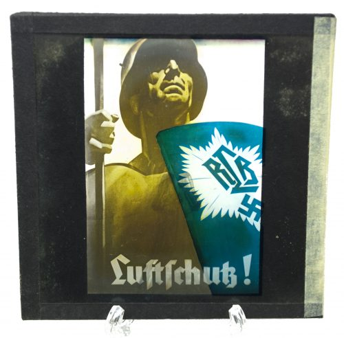 Cinema glass slide – RLB Luftschutz!