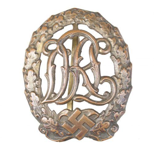 DRL Deutsches Reichssportabzeichen in bronze by maker Ernst Schneider
