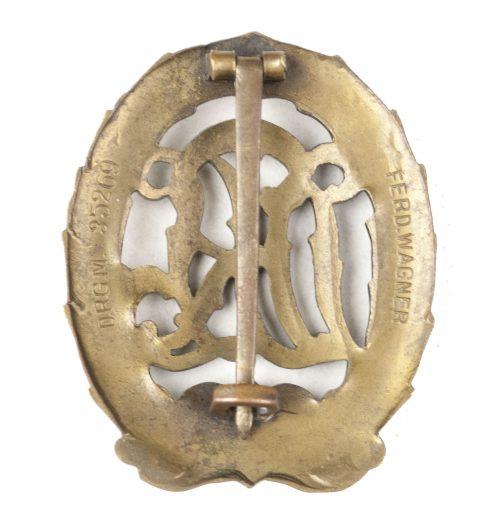DRL Deutsches Reichssportabzeichen in bronze by maker Ferd. Wagner DRGM 35269