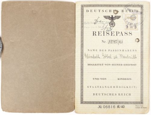 Deutsches Reich Reisepass with passphoto from Essen