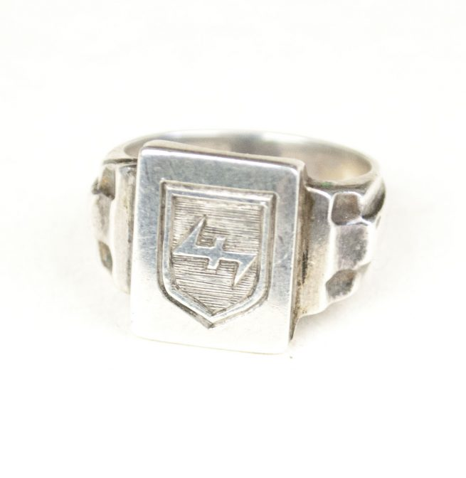 "Dutch 34th SS Volunteer Grendadier Division Landstorm Nederland ""835 silver"" ring"